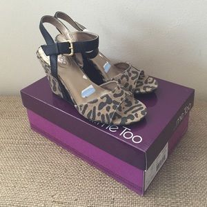 NEW Me Too Leopard Wedges
