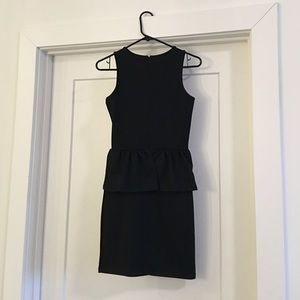Topshop Dresses - Black fitted peplum Topshop dress. Size 2.