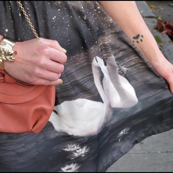 Eva Franco Dresses - Eva Franco Swan Print Dress