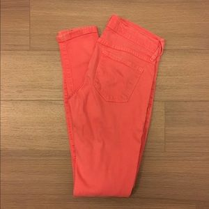 Coral Flying Monkey Skinny Jeans