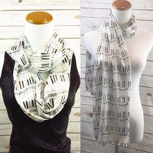 Accessories - Piano Scarf, Infinity Scarf, Music Teacher Gift
