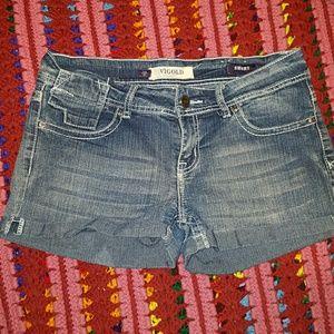 Vigold Pants - Vigold  Short Embellished Shorts