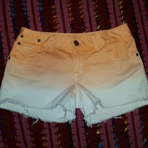 American Rag Pants - SALE Ombre Peach white Jean Shorts NWOT