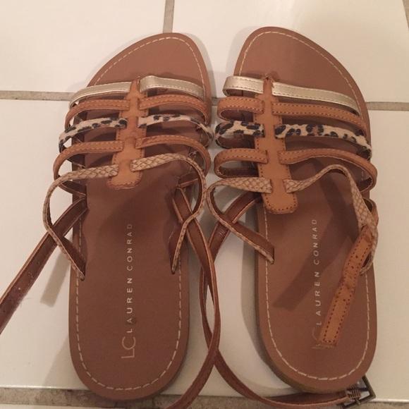 73d5bb20 LC Lauren Conrad Shoes | Lc Leopard Print Strap Sandals | Poshmark