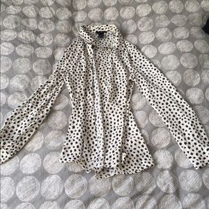 H&M Animal Print Button Up Shirt