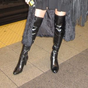 Leather Chinese laundry over the knee boots