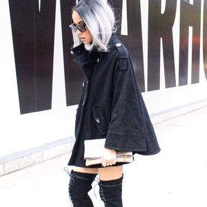 Kenneth Cole wool Cape Coat