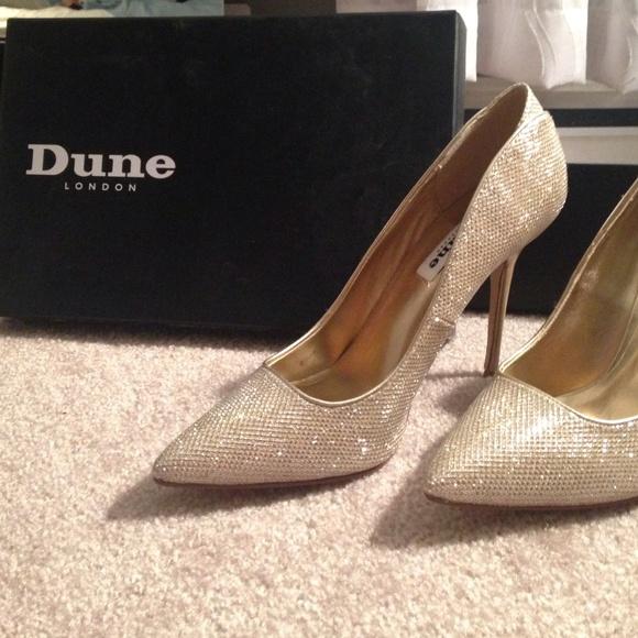 Shoes   Dune London Gold Heels   Poshmark