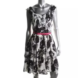 Donna Ricco Dresses & Skirts - DONNA RICCO Black-Ivory Printed Dress