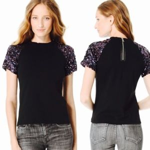 Pencey Tops - pencey | sequin sleeve shirt top