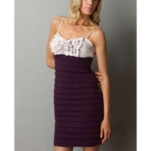 Pleated Ruffle Cocktail Dress