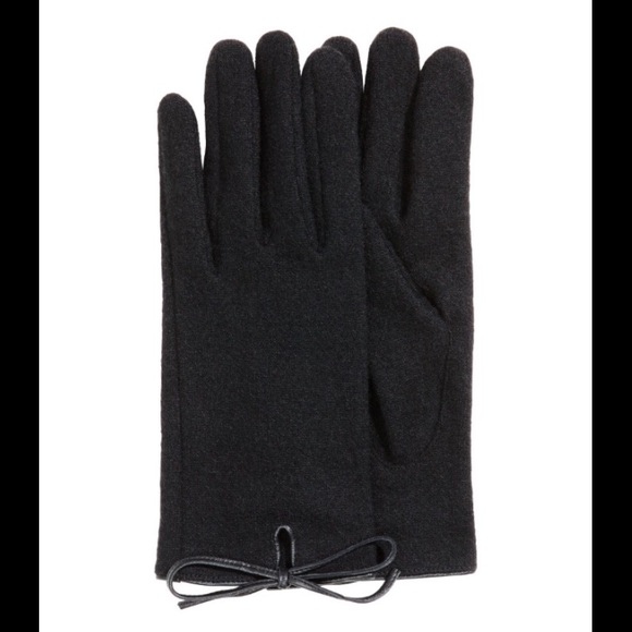 hampm ���sale���hampm black gloves with cute bow from masha ���s