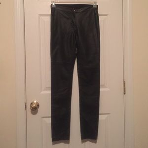 H&M black patent leather pants/ skinny/leggings.