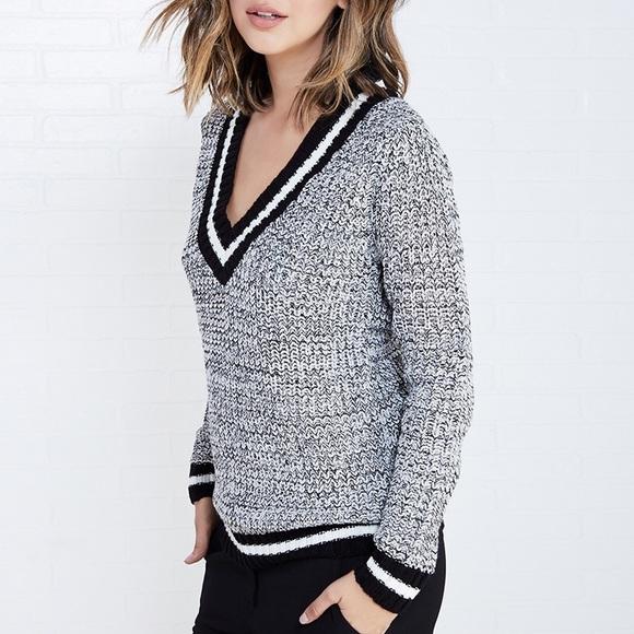 85% off Uniq Sweaters - 👻SALE👻 NWOT Varsity V-Neck Boyfriend ...