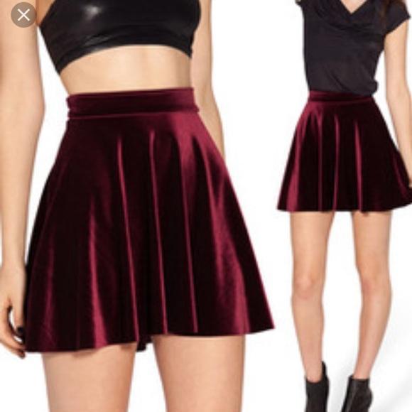 1d44425384 American Apparel Dresses & Skirts - ♡ZARA velvet skater skirt♡