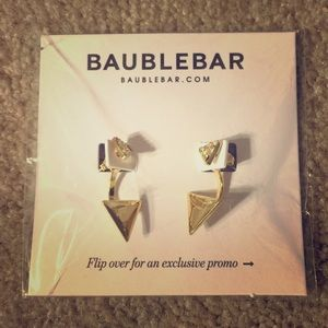 BaubleBar Jewelry - NWT BaubleBar Gold Triangle Earrings