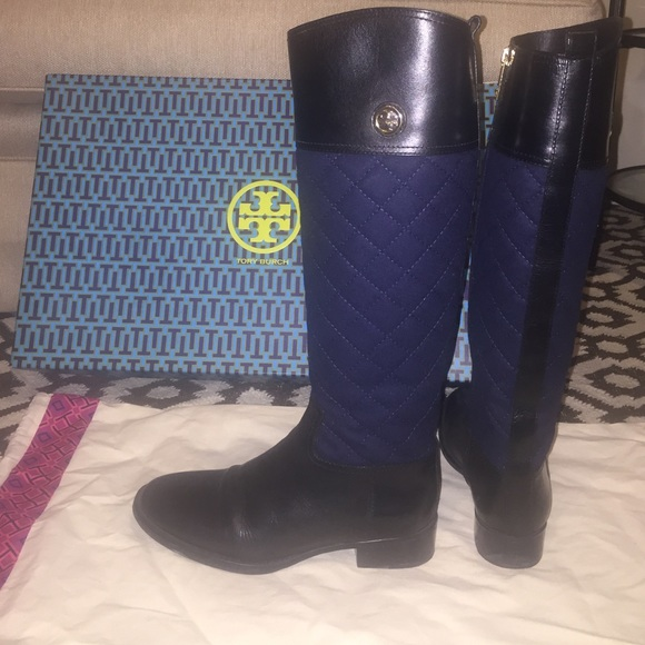 cb68d7eae09 Tory Burch Rosalie Quilted Riding Boots. M 56ca8d2cfeba1fcd5006221a