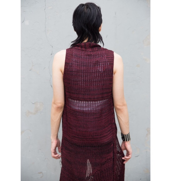 Rue 21 Sweaters - Long Vest Crochet Duster Cardigan Boho Sleeveless