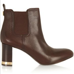 Tory Burch Shoes - Tory Burch April Brown Chelsea Boot Block Heel
