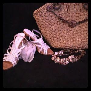 White House Black Market Leather Sandals