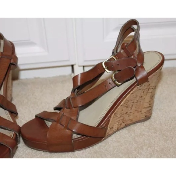 60 cathy jean shoes cathy jean leather cork wedges