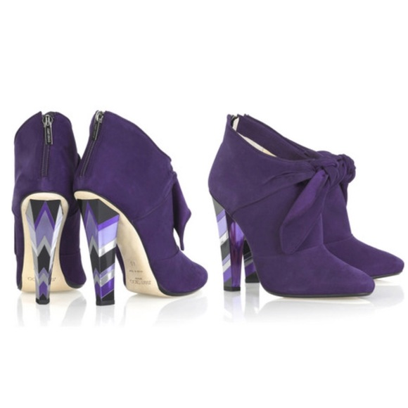 2da9c23bf27a3 Jimmy Choo Shoes - $1,395 Jimmy Choo Erica purple suede ankle boots
