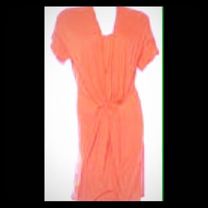 Stella McCartney Orange Tie Draped Dress sz 42