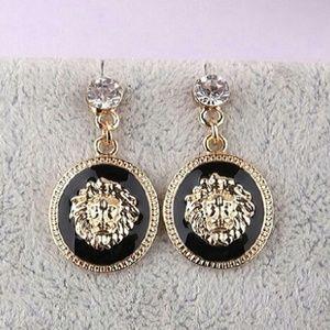 Gold & Black Lion earrings