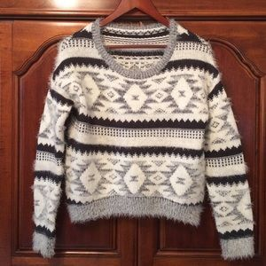 Funky charcoal & white sweater
