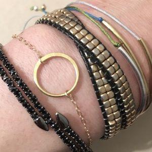 24K Gold Vermeil Eternity Ring Bracelet