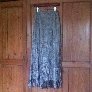 soft surroundings Dresses & Skirts - Soft Surroundings silver crinkle maxi skirt