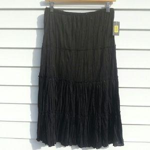 Copper Key Dresses & Skirts - Black Boho Skirt