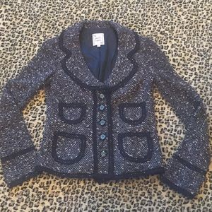 NANETTE LEPORE FITTED TWEED JKT SZ S
