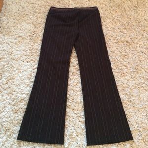 Speechless Pants - Brown Trousers with Pink and Yellow Pinstripes