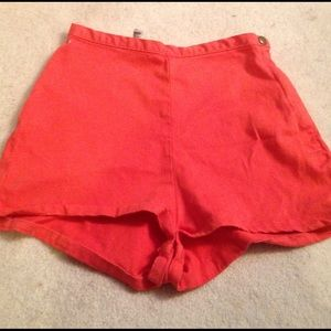 orange tap shorts from aa