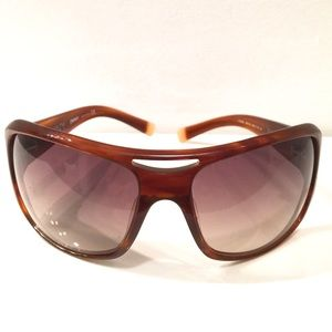DKNY square brown tortoise frame sunglasses