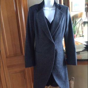 Laveer Brushed Wool & Calf Hair Vested Coat