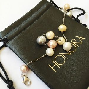 Honora freshwater pearl necklace - sterling silver