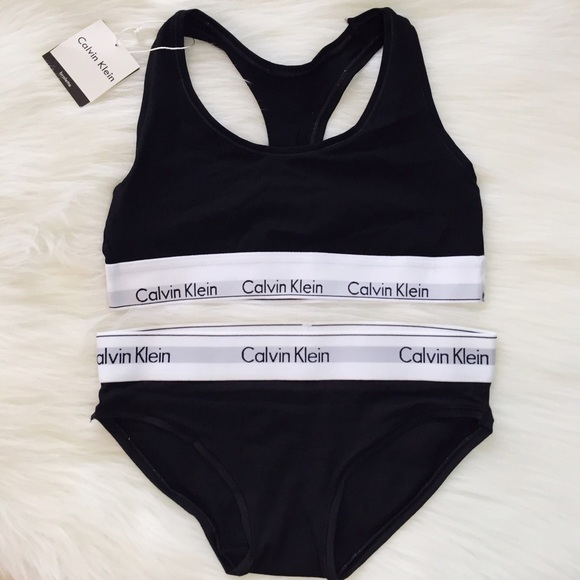 Black Calvin Klein Bra And Underwear