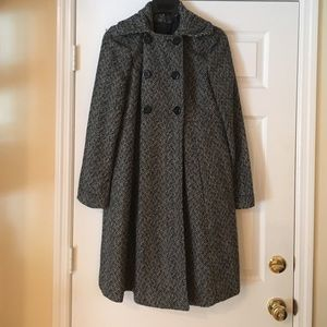 NWOT wool trench style coat