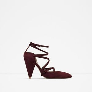 Zara pointed leather shoes (5219)