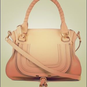 Chloe Marcie Medium Satchel Bag - Tan, PRICE FIRM