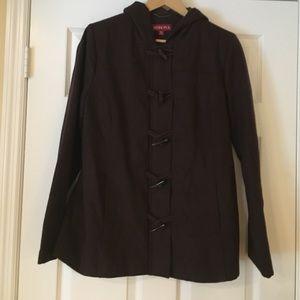 Merona brown wool peacoat jacket