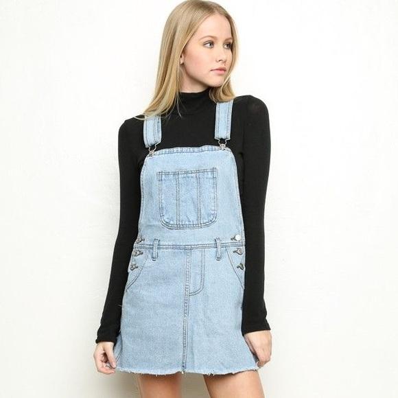 ad4d5ae0e92 Brandy Melville Dresses   Skirts - Brandy Melville Denim Overall Dress
