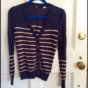 Urban outfitters blue/pink striped cardigan