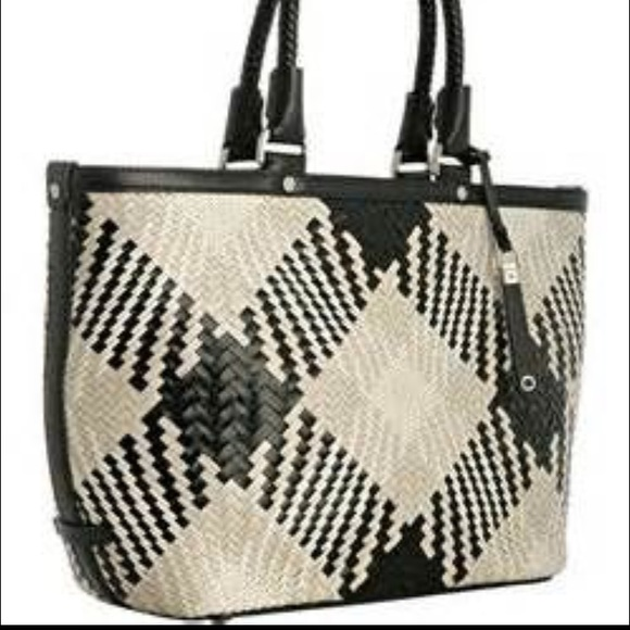55f3428ea3a4 Cole Haan Genevieve black and white tote