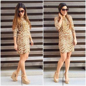 J. Crew Collection Zebra Print Dress