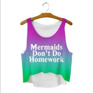 47d1f29c06913c Tops - Mermaid Crop Top