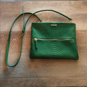 Gigi New York green crossbody bag