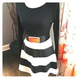 Black and white fitted dress, fits med/large.